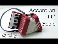 Dollhouse Accessories - How to make a 1:12 Scale Instrument Miniature Accordion - YouTube