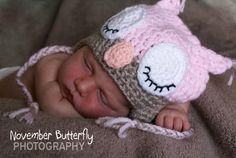 owl hat from: https://www.facebook.com/#!/HatsNThat