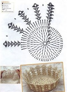 Christmas Crochet Patterns Part 2 - Beautiful Crochet Patterns and Knitting Patterns Crochet Diy, Vase Crochet, Diy Crochet Basket, Beau Crochet, Crochet Dollies, Crochet Gratis, Crochet Basket Pattern, Crochet Chart, Crochet Motif