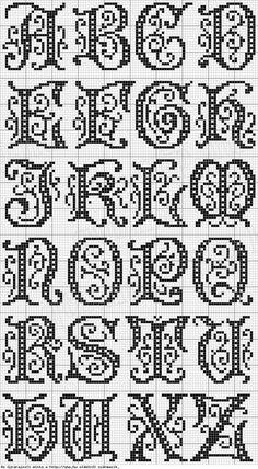 Ponto cruz letras