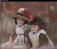 "john+singer+sargent+watercolors | Children,"" oil on canvas, by the American artist John Singer Sargent ..."