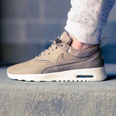 nike air max thea premium - damen sneakers beige