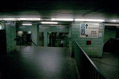 U-Bahn signs in Bahnhof Alexanderplatz Berlin 1990