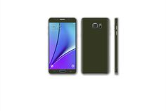Galaxy Note 5, Dark Brown Leather, Military Green, Feather, Samsung Galaxy, Kit, Phone, Quill, Telephone
