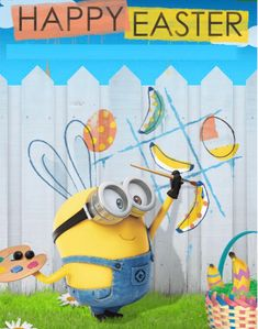 Minions 2014, Minions Bob, Despicable Me, Happy Easter, Disney Characters, Fictional Characters, Animation, Wallpaper, Memes