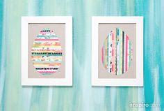 CUADROS MULTICOLOR Hoy te enseñamos a crea cuadros con un fondo multicolor para decorar tu casa aprovechando los recortes de papel Basic Grey. ¡Veras que divertido!  www.innspiro.com/blog/cuadros-multicolor/