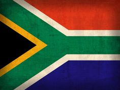 South Africa Flag Vintage Distressed Finish Mixed Media