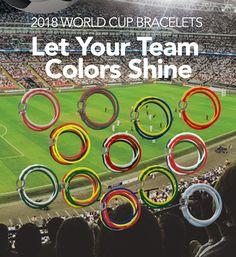 2018 Fifa World cup national team bracelets