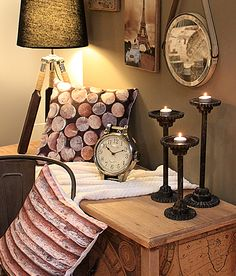Soft diffused lighting mixed with earth tones make for a warmer home. Do you agree? #homedecor www.inart.com