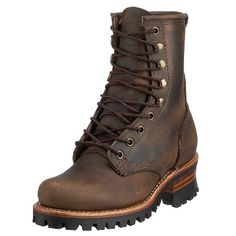 These women's shoes by #Frye are not only stylish but comfortable to boot The Logger 8G is an ankle boot made of leather with a lace up design for the perfect fi...