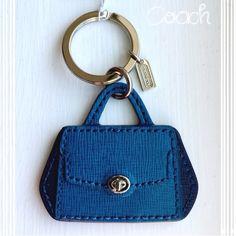 NWT Coach Keychain Fob~Satchel Plume Blue~ NWT Coach Madison Madeline Satchel Plume Blue Keychain~~~No Trades Coach Accessories Key & Card Holders