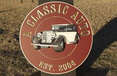 A Classic Auto Handcrafted Sign / Danthonia Designs