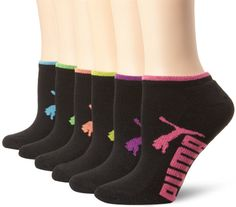 Puma Women's Half Terry Runner Socks 6-Pack           ($18.00) http://www.amazon.com/exec/obidos/ASIN/B00GOMDGOA/hpb2-20/ASIN/B00GOMDGOA