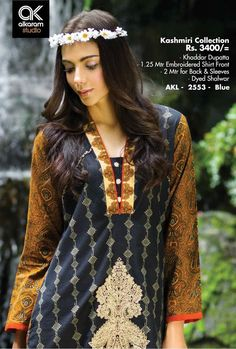 Formal Wear Suits For Girls By Alkaram From 2014 & 2015 Brand Collection, Winter Collection, Pakistani Street Style, Pakistan Fashion, Pakistani Designers, Shalwar Kameez, Famous Brands, Formal Wear, Dress Brands