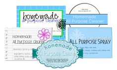 All Purpose Spray and Printable Labels for all of your homemade cleaners!