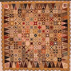 """Beautiful vintage """"Dear Jane"""" quilt. I'm working on this now. Maybe my granddaughter will finish it after I die!"""