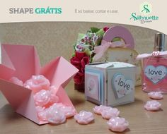 Free studio cut file for exploding gift favour treat box