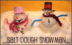 salt dough snowman craft
