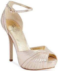 8a0c1dfa0e8 Adrianna Pappell Rebecca Two-Piece Platform Evening Sandals - Evening    Bridal - Shoes - Macy s