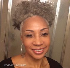 ***Try Hair Trigger Growth Elixir*** ========================= {Grow Lust Worthy Hair FASTER Naturally with Hair Trigger} ========================= Go To: www.HairTriggerr.com ==========================    Beautiful Gray Natural Hair Puff!
