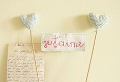 Wedding Cake Topper Je T'aime Sign
