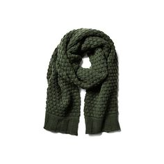 Cashmere Chunky Popcorn Scarf Loden Scarves ($119) ❤ liked on Polyvore featuring accessories, scarves, loden green, cashmere scarves, chunky scarves, portolano, cashmere shawl and portolano scarves