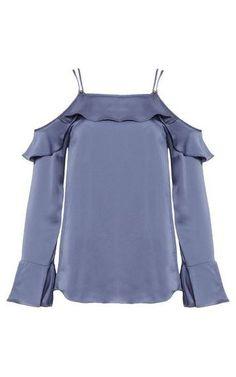Blusa ombro a ombro Barbara - azul