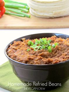 Homemade Refried Beans ~ I have no idea why I love refried beans so much...just do