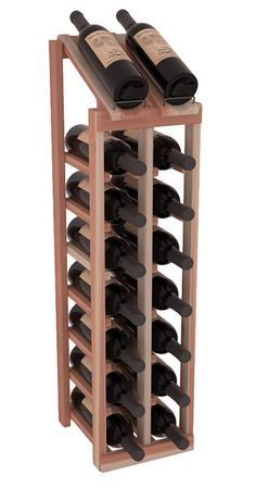 Unstained lead time is 2-3 days, whereas stained lead time is 2-3 weeks. Display your best vintage while efficiently storing 16 wine bottles. This slim design is a perfect fit for almost any space. Our wine cellar kits are constructed to industry-leading standards. Display top wine