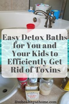 Here are some great ideas for easy detox baths for you and your kids to efficiently get rid of toxins. These are helpful whether you suffer from headaches. Detox Bad, Body Detox Cleanse, Detox Your Body, Health Cleanse, Diet Detox, Detox Soup, Toxin Cleanse, Stevia, Detox For Kids