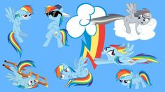 the many faces of rainbow dash by neodarkwing
