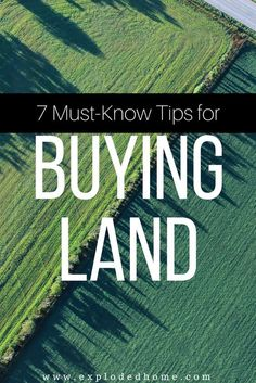 Going through the purchasing process of a piece of land is most of the times more vexing than buying a house. Here are 7 must-know tips for buying land so that you'll make the wisest choices possible! Build Your Own House, Sell Your House Fast, Home Building Tips, Building A House, Building Ideas, Building Design, House With Land, Buying First Home, Home Buying Process