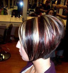 Maroon Color with Blonde Highlights