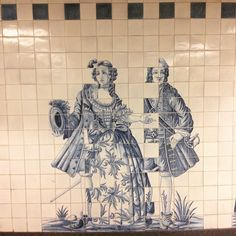 #azulejos#Tiles#panel#CampoGrande#underground#station#1993#EduardoNery#portuguese#artist#painter#interpretation#18thcentury#tile#motifs#Figuras_de_convite#welcomingfigures#tileaddiction#Lisbon#Portugal by alexmaferreira