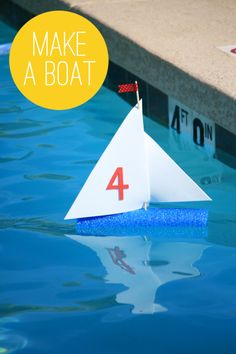 Make a Sailboat with a Pool Noodle, Bamboo Skewer & Craft Foam