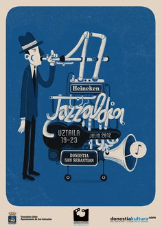 Jazz Poster by Andrés Lozano, via Behance