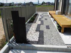 枕木で仕切ったオシャレな砂利敷きのお庭/株式会社環境緑建/ガーデン ... オシャレなローメンテナンスのお庭です