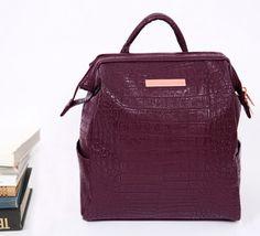 Mini Crocodile Pattern Leather Backpack v1 Convertible Backpack, Crocodile, Leather Backpack, Fashion Backpack, Backpacks, Purses, Mini, Pattern, Bags