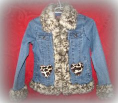 Upcycled Repurposed Denim Jean Jacket Fur by TwoCottageChicks, $35.00. Nice for winter!