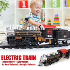 Train Toy Electric Classical Steam Train Series With Light Simulation Sound Effects Rail Car DIY Stitching Educational Toys Set Dancing Toys, Toy Cars For Kids, Track Roller, Rail Car, Electric Train, Remote Control Toys, Models, Classic Toys, Car Photos