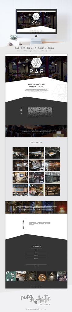 Website Design // Blog Architecture | Meg White // Designer