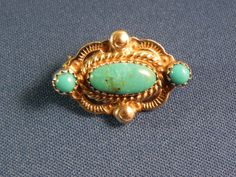 Turquoise brooch