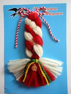 Yarn Crafts, Diy And Crafts, Baba Marta, Christmas Crafts, Christmas Ornaments, 4th Of July Wreath, Projects To Try, Valentines, Paracord Bracelets