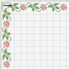 A Victorian forget-me-not cross stitch border. Cross Stitch Letters, Cross Stitch Rose, Cross Stitch Borders, Cross Stitch Flowers, Cross Stitch Charts, Cross Stitch Designs, Cross Stitching, Cross Stitch Embroidery, Hand Embroidery