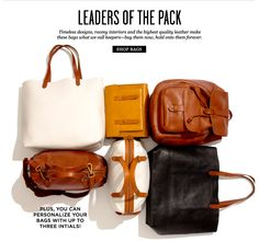 No such thing as too many leather bags.