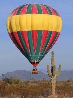 Regular sight on any given hot air balloon flight in Phoenix, Arizona. I've ridden in one---- amazing!!!!