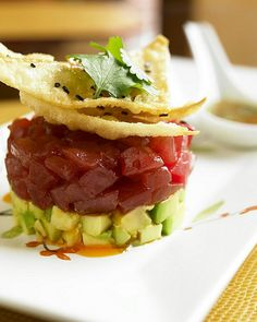 Tuna tartare I prepared for our Billionaire Babe..(afterall, I did go to Culinary School)..:)  Bella Donna