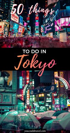 50 things to do in Tokyo for first time visitors - Planning a trip to Japan and not quite sure what to do in the capital? Here is a list of the best 50 things to do in Tokyo. The Japanese capital is one of the most interesting places, featuring vibrant districts and fun establishments. You cant bored whilst exploring Tokyo, you find an array of things to do and see. #japan #tokyo #guide