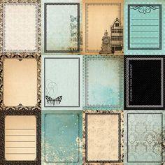 Journal Stickers, Scrapbook Stickers, Journal Cards, Scrapbook Cards, Junk Journal, Vintage Ephemera, Vintage Paper, Etiquette Vintage, Project Life Cards