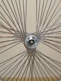 Send us your bike wheels and (wheel) help you create a custom spoke pattern.